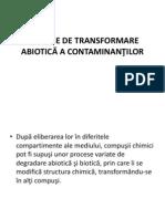 procese de transformare abiotica a contaminantilor