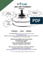 Promo Flyer Cours de Guitare Pour Ecole Francaise 2014