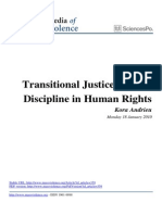 Transitional Justice a New Discipline in Human Rights