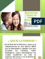 Educacion Sexual en Niños y Adolescentes