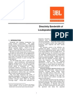 _Directivity Bandwidth of Line Arrays