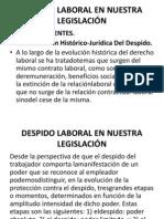 Despido Laboral en Nuestra Legislación