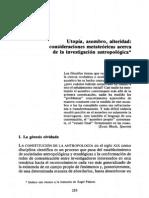 Esteban Krotz Utopia Asombro Alteridad Consideraciones Metateoricas Acerca de La Investigacion Antropologica 1