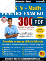 TEAS v Math 2014 Practice Exam Kit