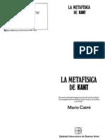 Caimi, Mario - La Metafísica de Kant (Editorial Universitaria)