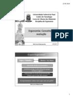 1º Aula Ergonomia - Conceitos e Evolução