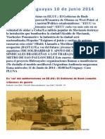 Noticias Uruguayas 10 de Junio 2014