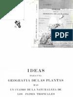 Humboldt and Bonpland - Ideas Para Una Geografía de Las Plantas Más Un Cuadro de La Naturaleza de Los Países Tropicales
