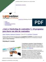 ¿Qué es Marketing de contenidos_ y 10 preguntas para hacer un sitio de contenidos