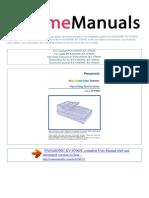 User Manual Panasonic Kv s7065c e