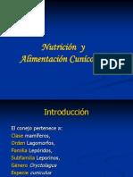 Nutricion y Alimentacion Cunicola i