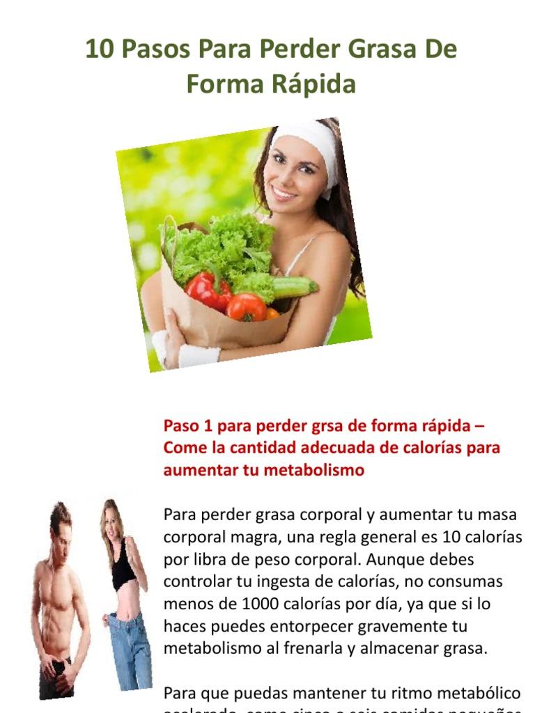 forma más rápida de perder grasa corporal