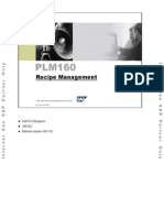 PLM160 Recipe Management