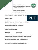 Practicas de Manufactura y Procesos