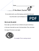 phases of the moon journal