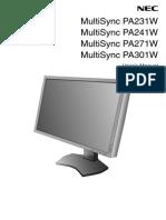NEC PA Series Usermanual