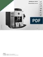 Jura f90 Manual