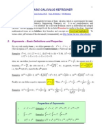 Calculus Refresher Notes from Univ of Wisc