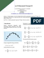 Regresi Polinomial Derajat II