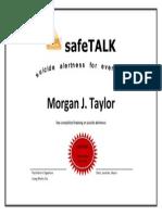 mjt - safetalk certificate