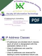 IP Addressing & Sub Netting