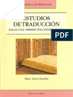 SNELL-HORNBY - Tapa y Referencia