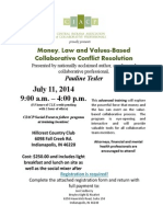 Money, Law and Values in Conflict Resolution