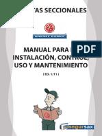 ManualPuertaSeccionales Ed1 2011 Baja