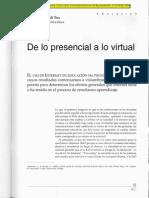 De Lo Presencia a Lo Virtual