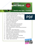 Tracklist SSB GAG2014