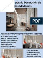 Accesorios Para La Decoración de Baños Modernos