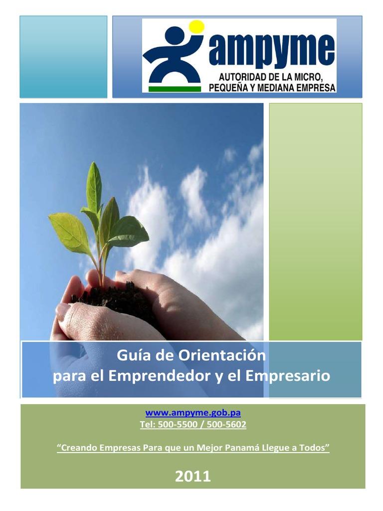 Guia de Orientación Para Creación de Una Empresa (Ampyme)