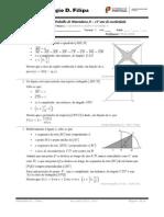 5ª Ficha de Trabalho - Trigonometria