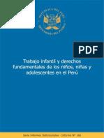 Trabajo infantil y derechos fundamentales de los niños, niñas y adolescentes en el Perú