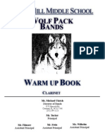 Bb Clarinet Warm Up Book