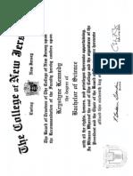 kennedy krystyne tcnj diploma
