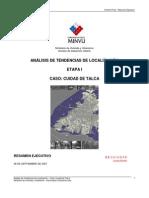 Analisis de Tendencias de Localizacion TALCA (Parte 1)
