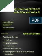 Building a Server App With SOA and WebAPI
