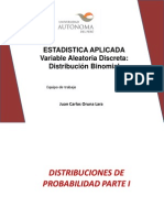 CLASE 2 Variable Aleatoria Distr Binomial