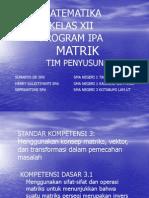 Materi Matriks Tugas Kelompok Kelas 12