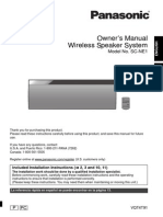 Panasonic Speaker SC NE1 Manual
