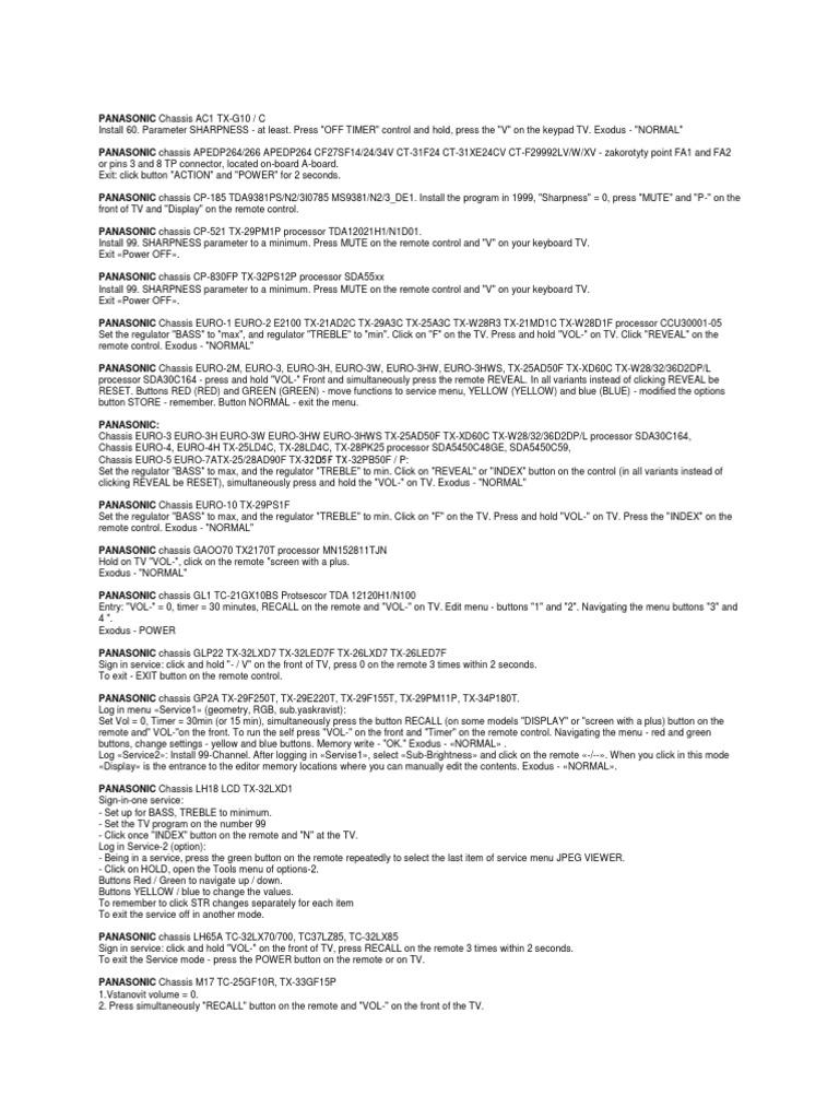 инструкция на русском языке panasonic tc 21l10r