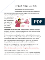 The Facts About Quick Weight Loss