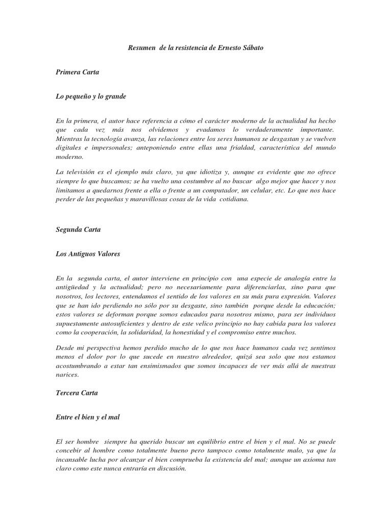 Resumen de La Resistencia de Ernesto Sábato
