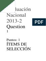 Evaluación Nacional 2013ddd