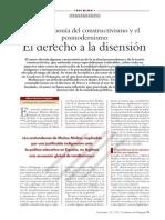 El Derecho a La Disension