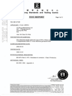 Cable Trunking Test Report BS 4678 IEC61084 G275