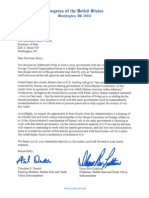 House Letter to Kerry