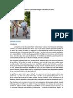 La Responsabilidad de Los Padres en La Formación Integral de Los Niños y Las Niñas