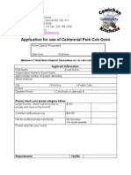 application for use of cob kitchen june 2014